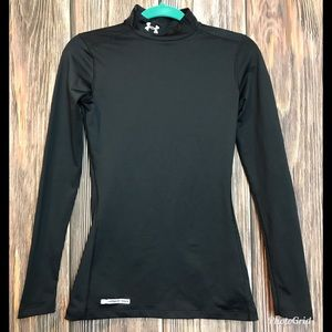 Womens Under Armour Cold Gear Mock Neck Fitted Top